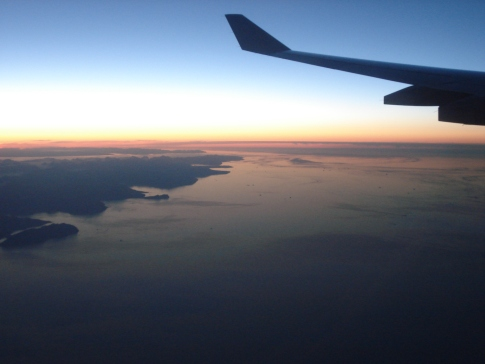Sunset over the British Channel