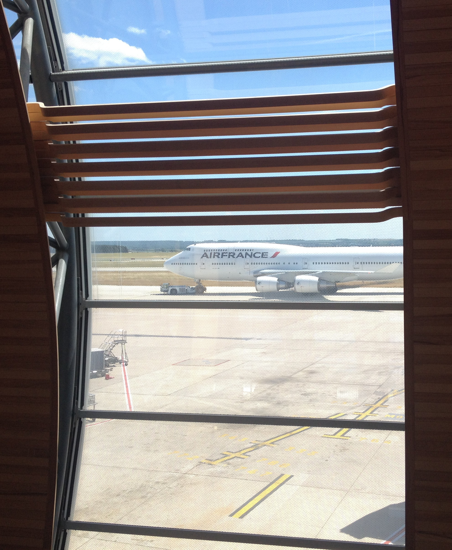 Air France Boeing 747-400 towed to Gate K 49 at Paris CDG