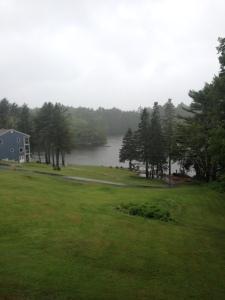 Regen in Boothbay Harbout Maine