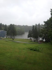 Regen in Boothbay Harbout Maine