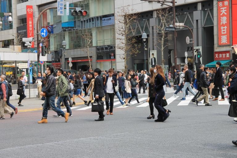 Busy Tokyo Crossing