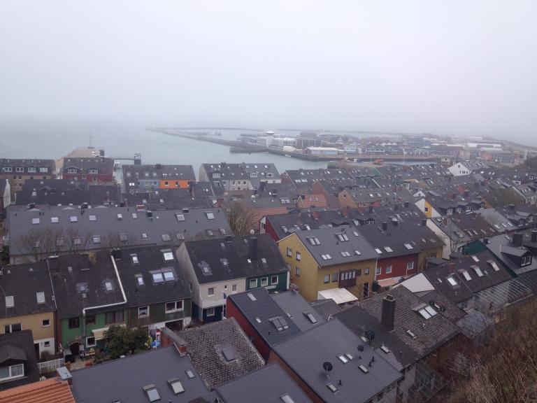 Reihenhäuser auf Helgoland