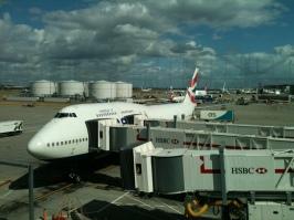 BA Boeing 747-400 at London-Heathrow