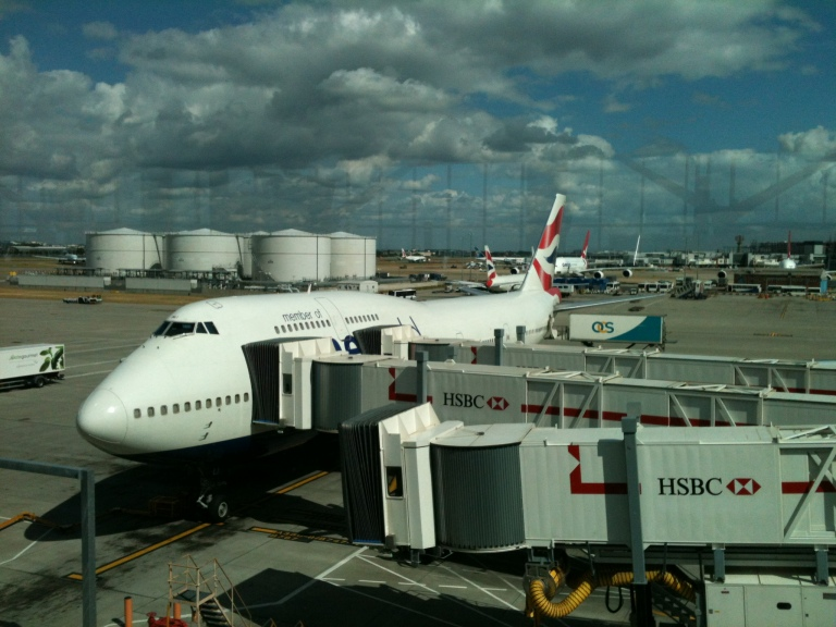 Queen of the Skies at the Gate in Heathrow