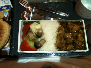 Dinner - Stir Fried Chicken with Vegetables and Steamed Rice