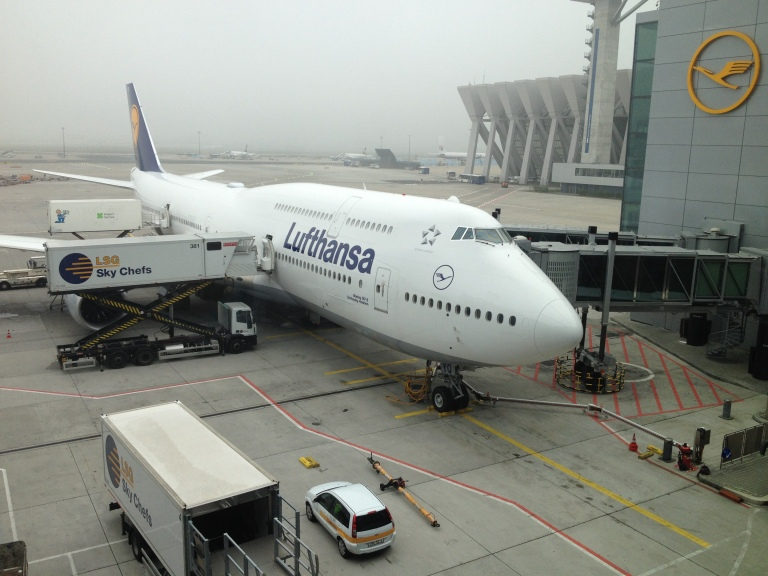 Lufthansa 747-800 at the Gate in Frankfurt