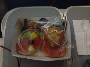 Breakfast Snack - Fresh Fruits (Nice!), Muffin, and Cereal Bar