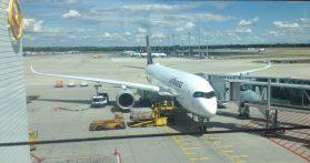 Brand new Lufthansa A 350 in MUC