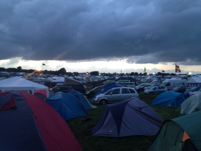 Dark Clouds Over the Campsite #wackenopenair