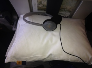 Lufthansa Headset and Pillow