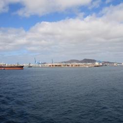 Ausfahrt aus dem Hafen von Las Palmas