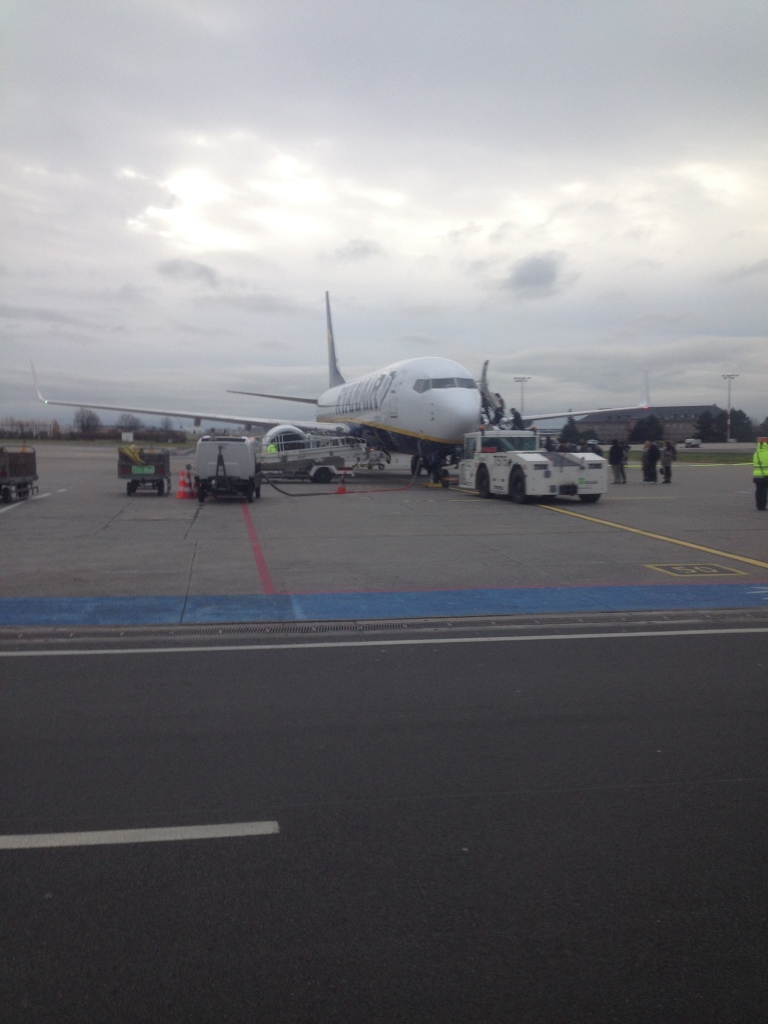 Ryanair Boeing 737 in Berlin (SXF) Ready for Departure to Malaga, Spain