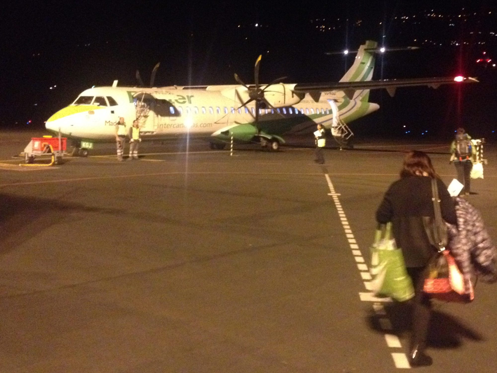 Binter Canarias ATR 72 waiting on the Tarmac