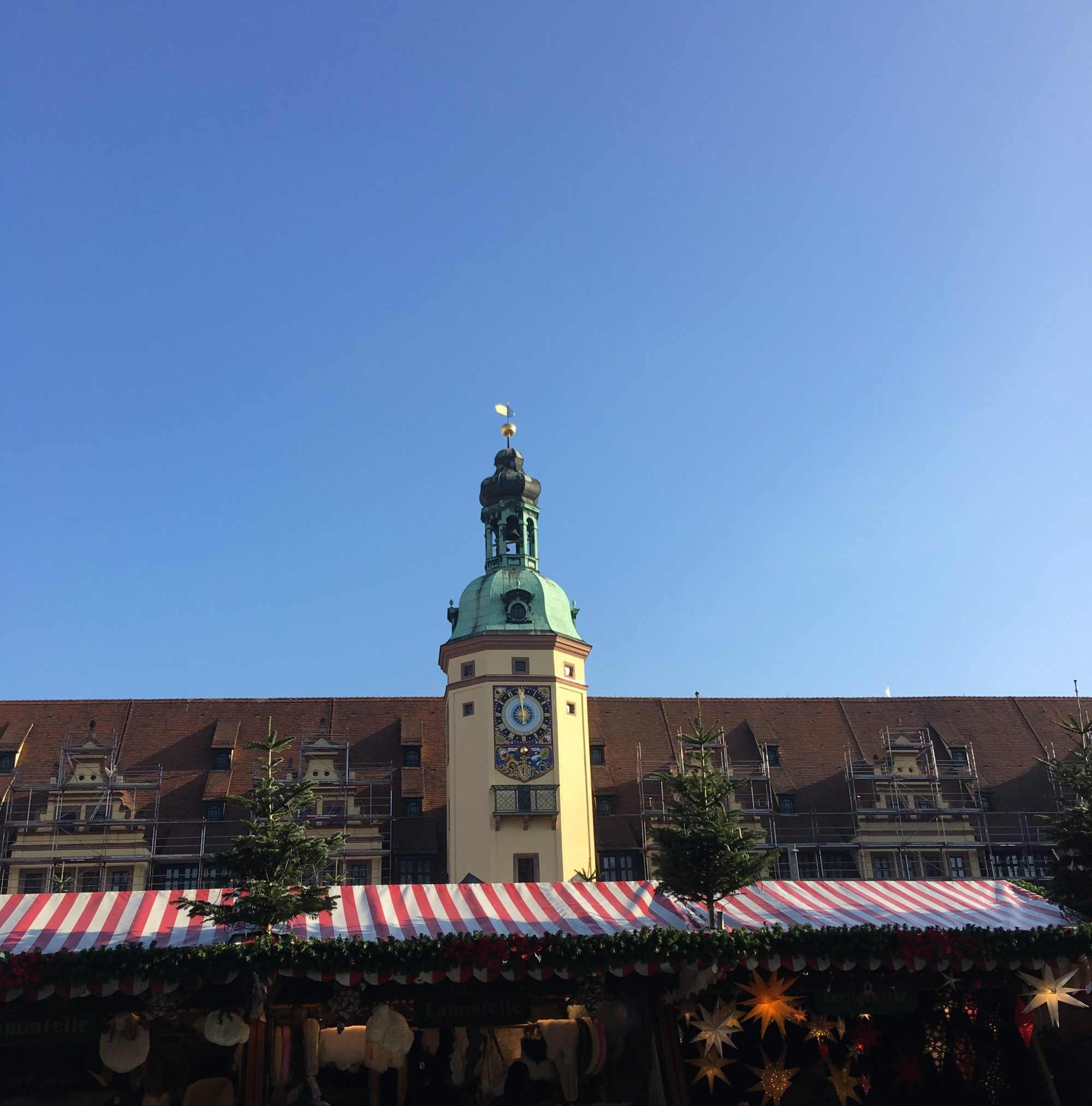 Christmas Market in front of Leipzig's Altes Rathaus