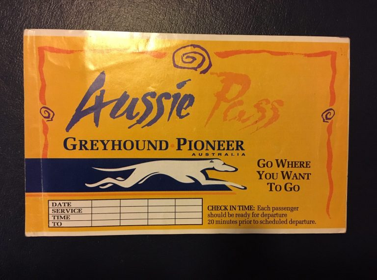 Kilometerpass von  Greyhound Pioneer Australia
