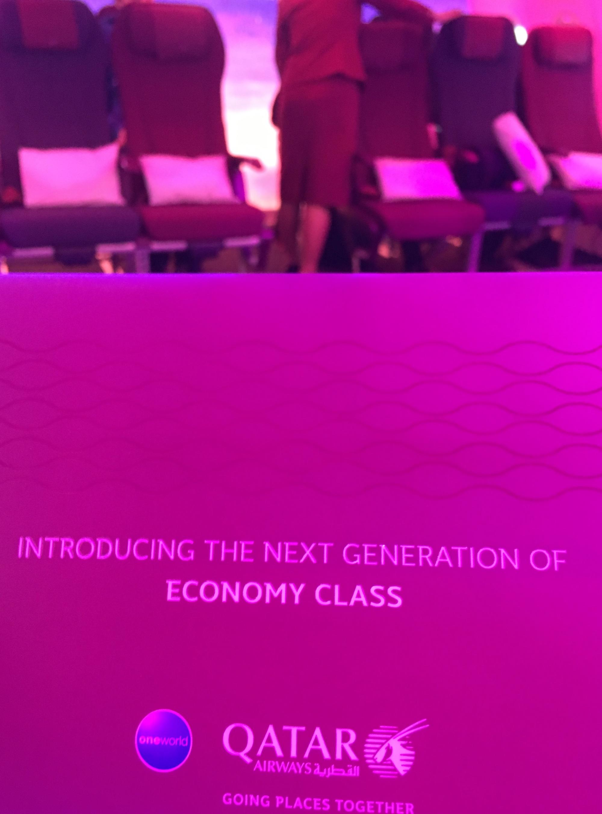Qatar Airways' revolutionary new economy seat unveiled @itb_berlin
