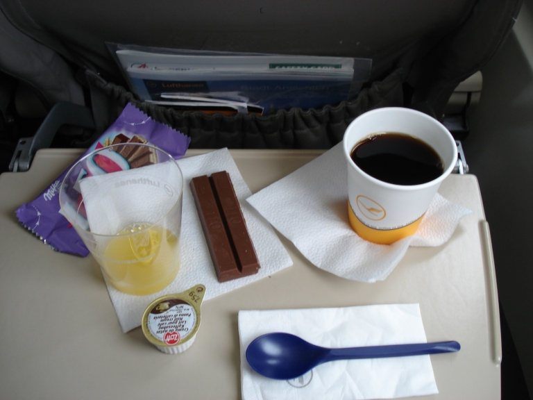 Snack on Augsburg Airways (lufthansa Regional) TRS-MUC