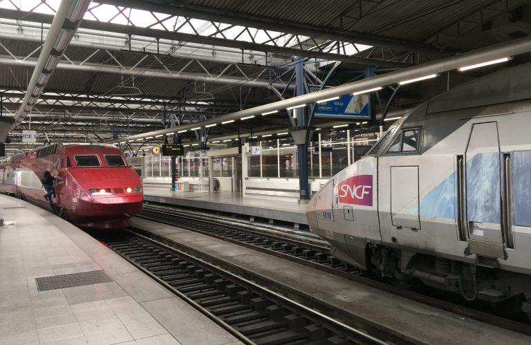 Thalys- und TGV-Züge in Brüssel