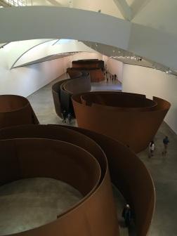"""Guggenheim Museum Bilbao, """"The Matter of Time"""" Richard Serra"""