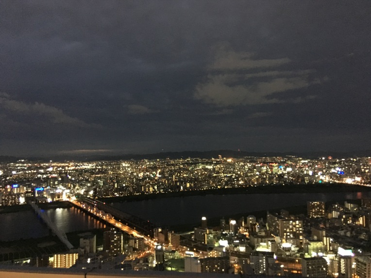 River Yodo viewed from Umeda Sky Building in Osaka, Japan