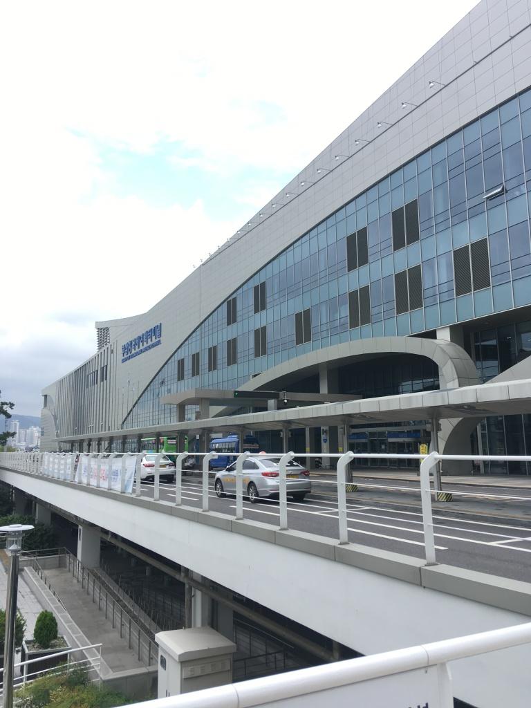 Terminalgebäude im Fährhafen von Busan
