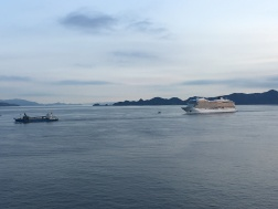 Cruise Ship Viking Orion on Seto Inland Sea