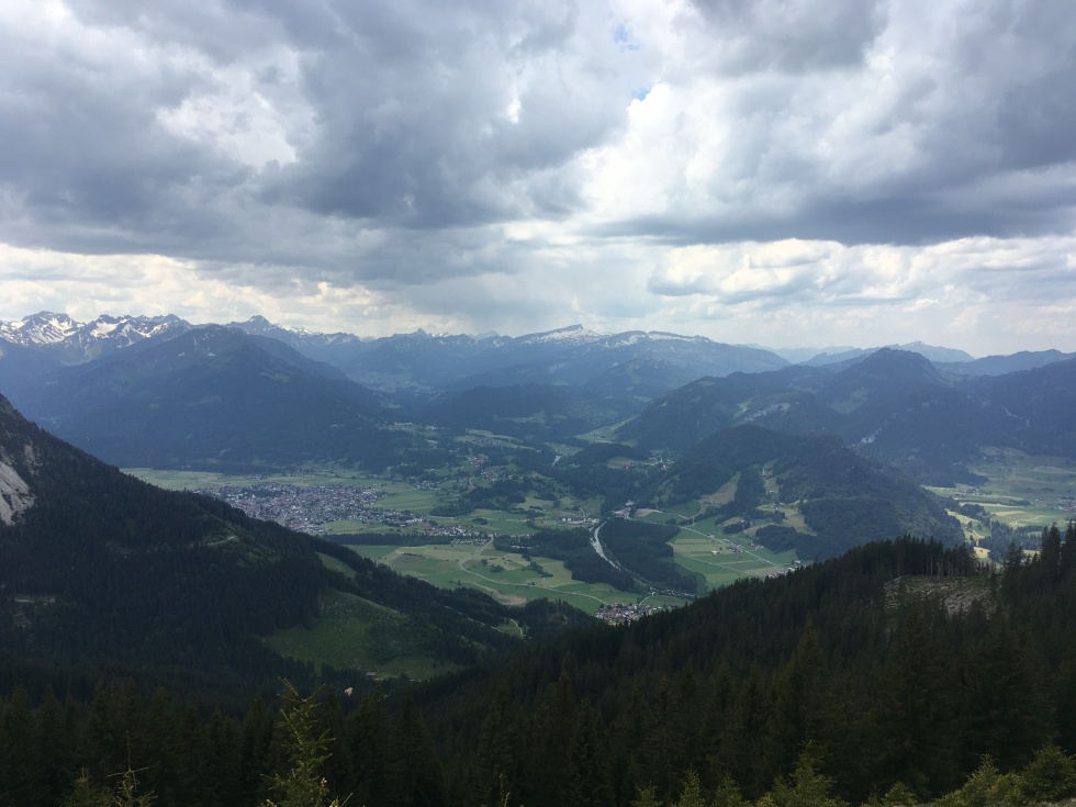 Weather changing above Oberstdorf in the Bavarian Alps