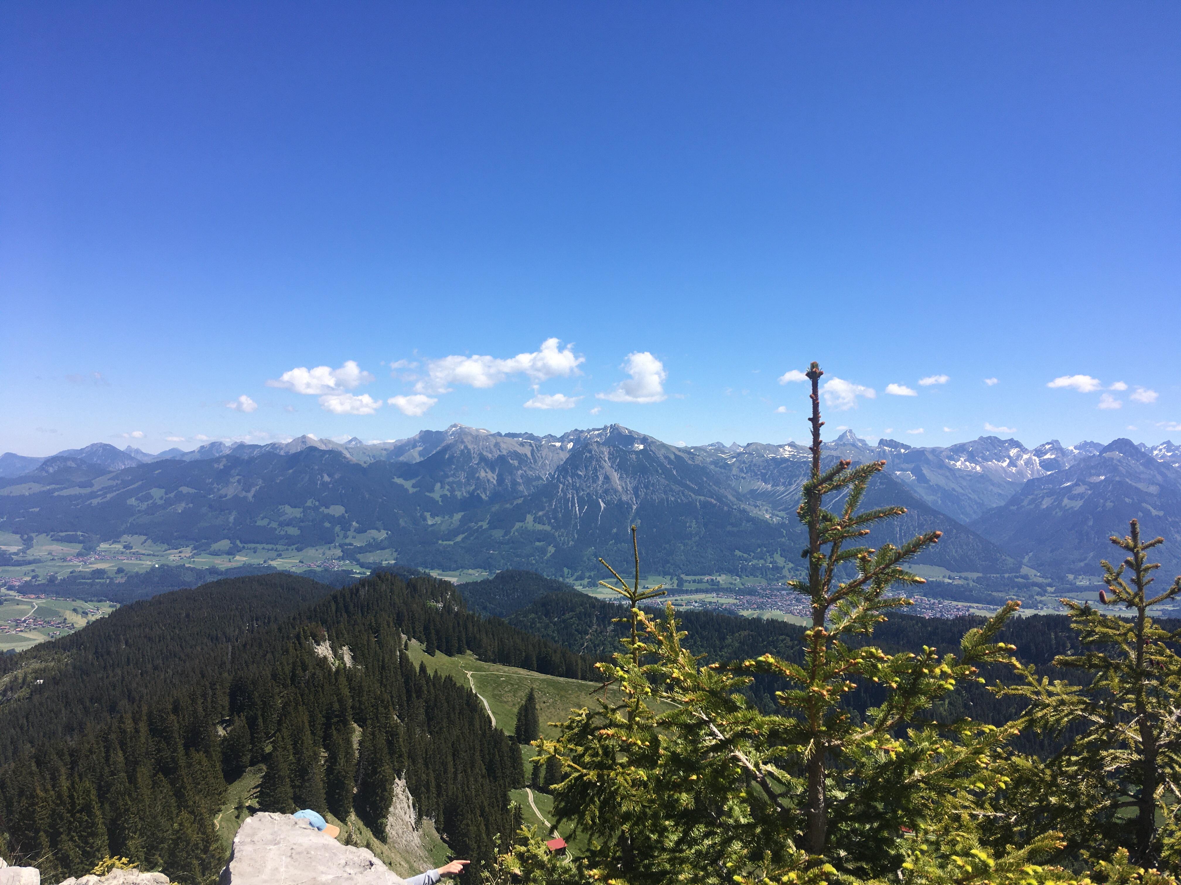 Blick vom Besler im Oberallgäu