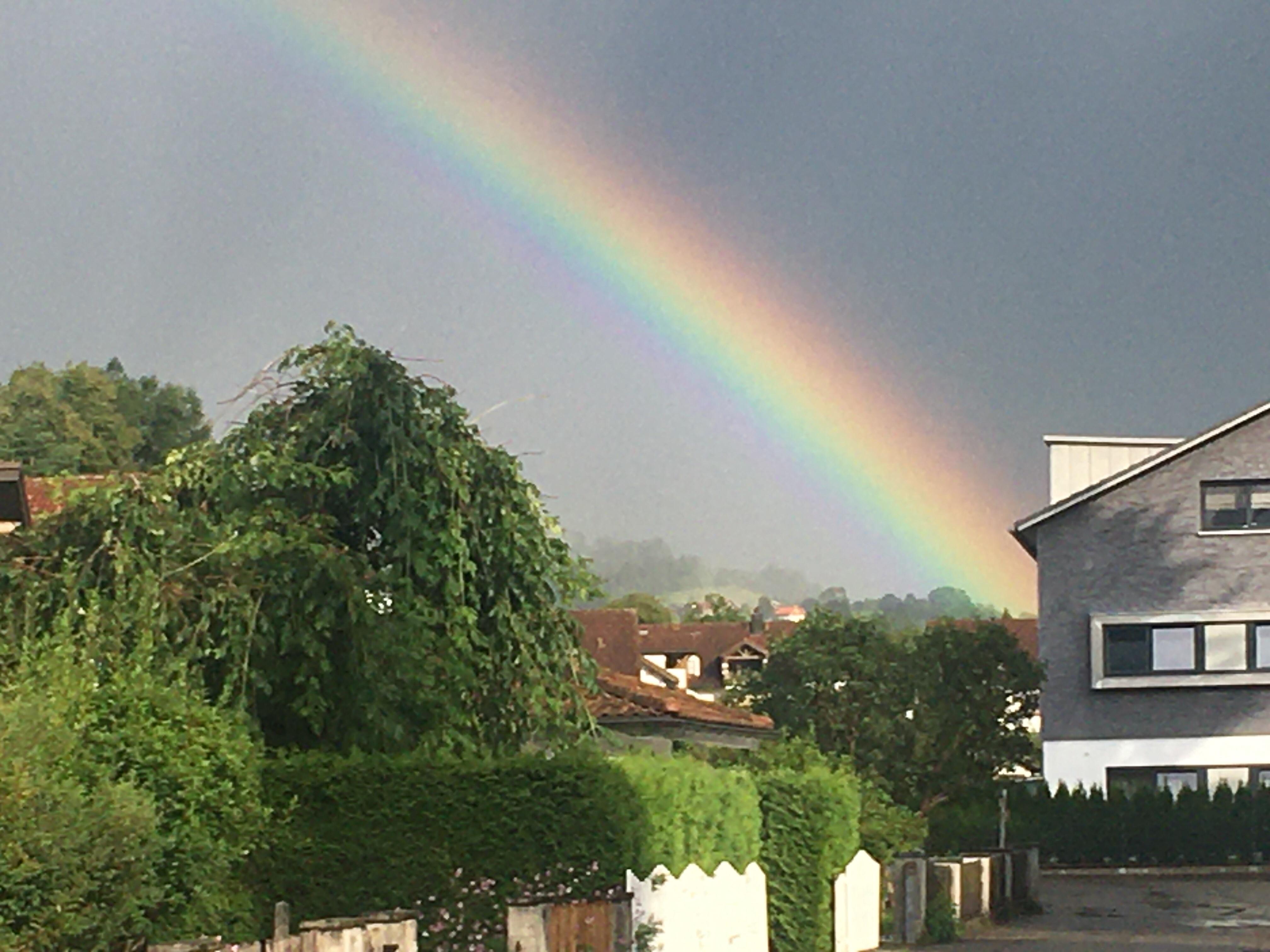 Regenbogen über Sonthofen