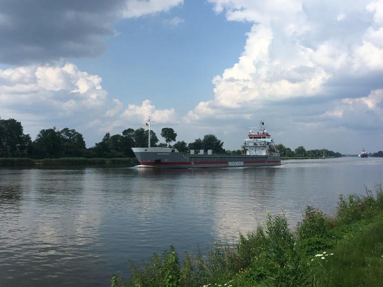 "General cargo vessel ""Maasborg in the Kiel Canal"
