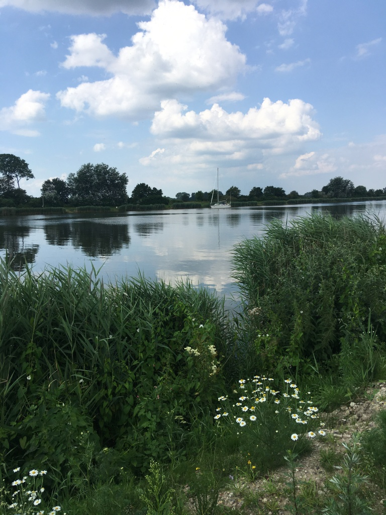 Kiel Canal (Nord-Ostseekanal) in July